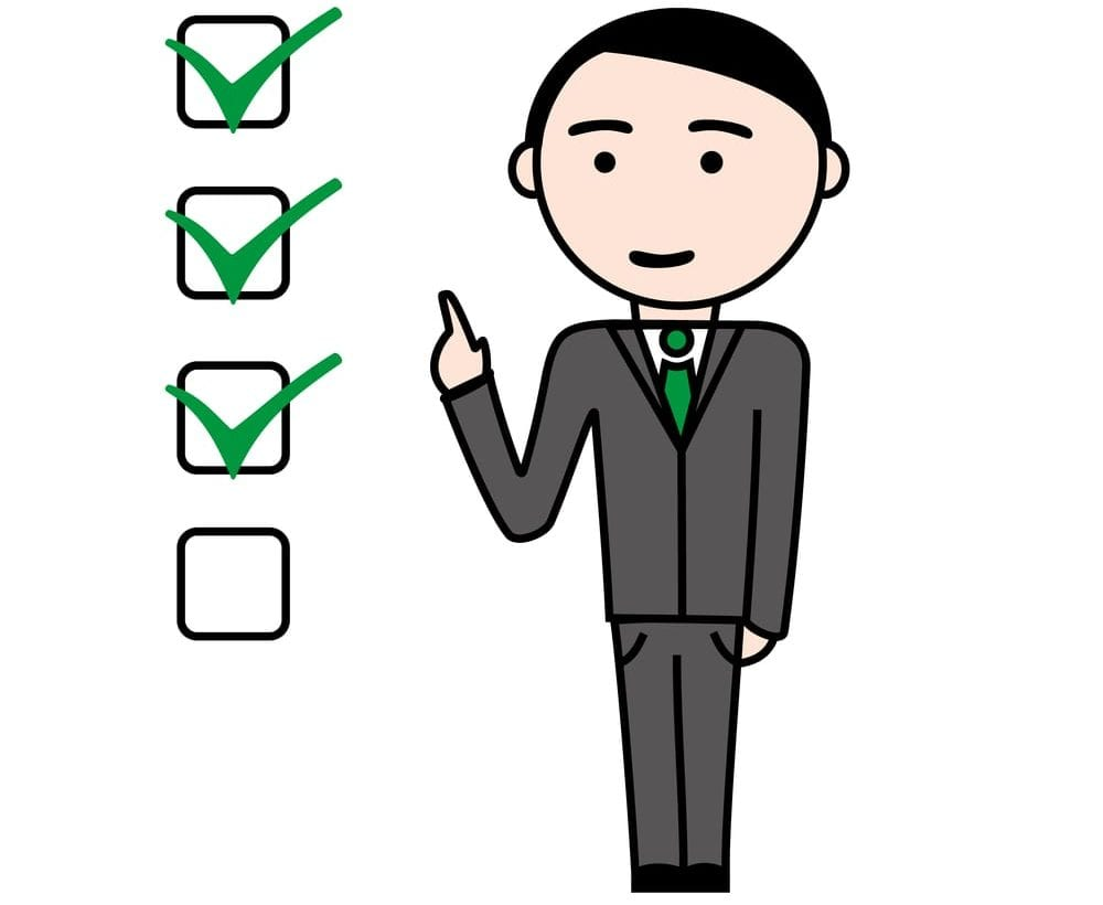 businessman checklist