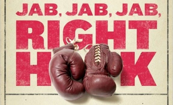 JAB JAB JAB RIGHT HOOK PHILOSOPHY BOOK WITH BOXING GLOVES