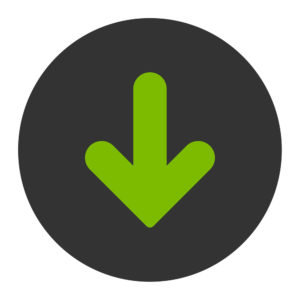 Arrow Right icon from Primitive Round Buttons OverColor Set. This round flat button is drawn with eco green and gray colors on a white background.