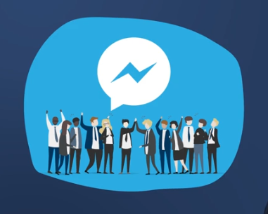 group of people and messenger icon